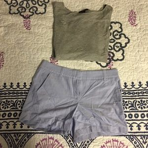 Pants - NWOT J. crew chino shorts and 3/4 Sleeve top